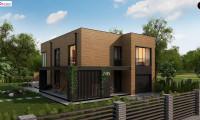 Zx93 - Проект современного двухэтажного дома с вторым светом и большой площадью остекления.
