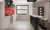 Zx96 - Проект современного одноэтажного дома с интересной планировкой и гаражом для одной машины.