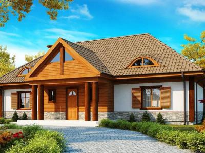Z20 - Просторный дом в стиле старинной усадьбы с необычными мансардными окнами и крытой террасой.