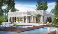Zx100 v1 - Изящный современный дом с многоскатной крышей вместо плоской.