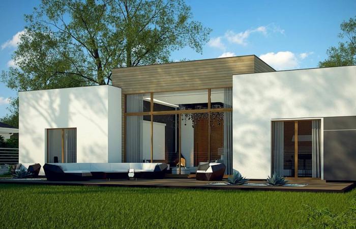 Zx111 - Одноэтажный дом в стиле современного минимализма