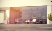 Zx117 - Современный одноэтажный дом хай-тек с навесом для автомобиля