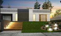 Zx119 - Проект дома в современном стиле с закрытой террасой