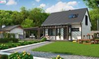 Z211 v2 tz - Дом с мансардным этажом и большой террасой