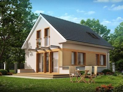 Z211 - Компактный дом с дополнительной спальней на первом этаже, простой в строительстве, недорогой в эксплуатации.