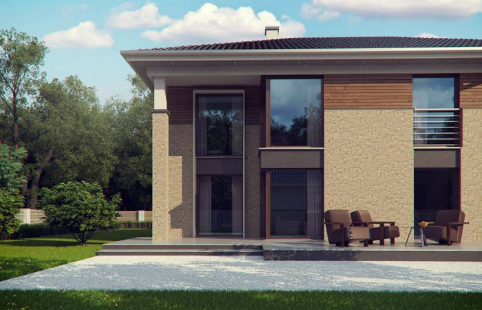 Zx122 - Комфортная двухэтажная усадьба с гаражом на 2 авто, с сауной на 1 этаже