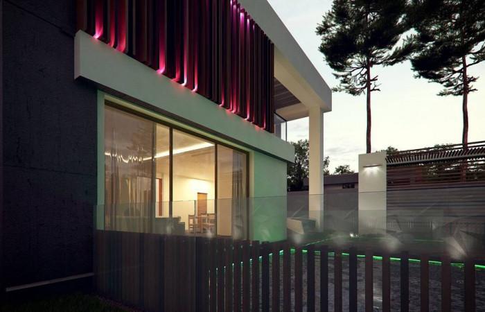 Zx124 - Проект дома в современном стиле с большими площадями остекления