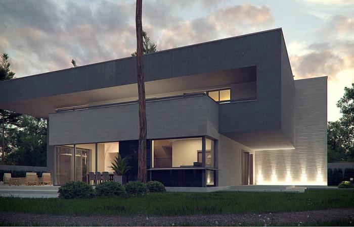 Zx127 - Комфортный современный двухэтажный особняк с сауной на втором этаже