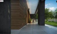 Zx128 - Одноэтажный дом с плоской кровлей и террасой