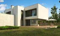 Zx130 - Современный двухэтажный дом с просторной террасой и гаражом на две машины.