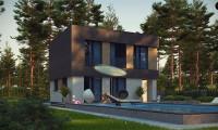 Zx134 - Двухэтажный дом с гаражом на две машины