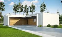 Zx135 - Современный плоскокровельный дом с компактной и удобной планировкой