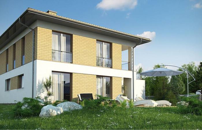 Zx136 - Двухэтажный дом с гаражом на две машины