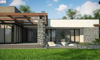 Zx137 - Современный одноэтажный дом с двойным гаражом и плоской крышей