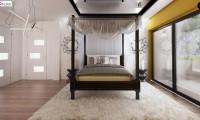 Zx139 - Современный стильный двухэтажный дом, с гаражом для двух машин