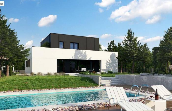 Zx143 - Дом в современном стиле с подвалом