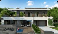 Zx146 - Стильный дом в современном стиле с просторной террасой на втором этаже.