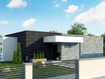 Zx153 - Современный одноэтажный дом с 3 спальнями и внутренним двориком