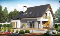 Z219 - Проект аккуратного мансардного дома, с современным дизайном фасадов.