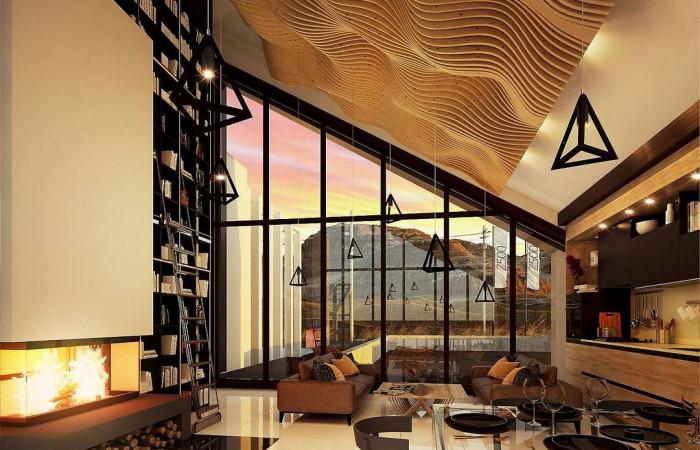 Zx201 - Современный дом с просторной гостиной и большим остеклением
