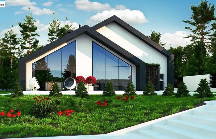 Zx250 - Современный мансардный дом со вторым светом