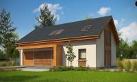 Z232 A - Проект комфортного мансардного дома для большой семьи