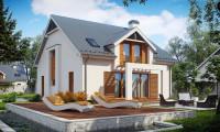 Z246 - Дом традиционной формы с элегантными современными элементами в архитектуре.