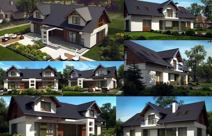 Z247 - Практичный двухквартирный дом с общими входом и техническим помещением.