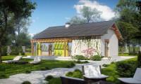 Z249 - Небольшой одноэтажный дом классической формы с современными элементами дизайна.