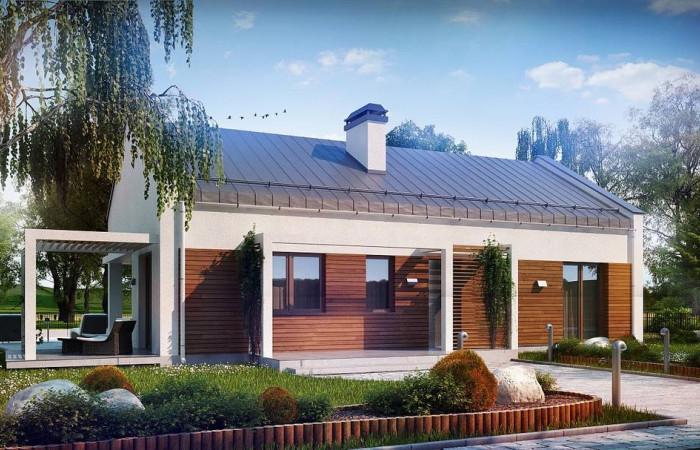 Z258 - Проект небольшого одноэтажного дома простого современного дизайна.
