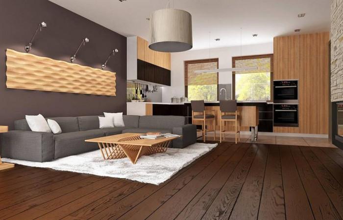 Z261 - Проект небольшого практичного одноэтажного дома. Есть возможность обустройства чердачного помещения.