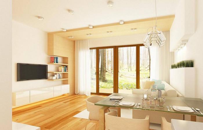 Z262 - Простой и недорогой в строительстве одноэтажный дом небольшой площади.