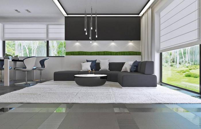 Z273 - Проект стильного одноэтажного дома в классическом стиле.