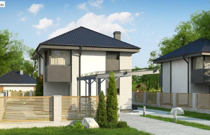 Z276 - Современный двухэтажный дом с практичной планировкой