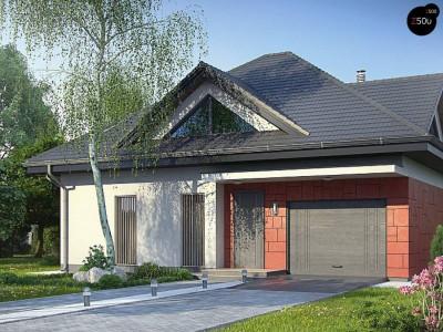 Z278 S - Проект одноэтажного дома Z278 адаптированный под строительство в сейсмических районах
