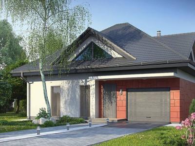 Z278 - Практичный дом со встроенными гаражом, с большой площадью остекления в гостиной.