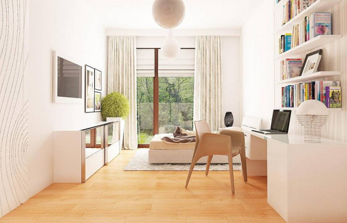 Z281 - Одноэтажный просторный дом с эркером и крытой террасой.