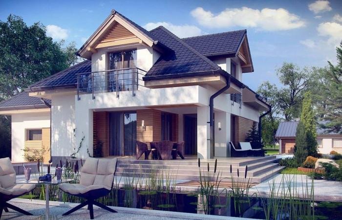 Z284 - Комфортный дом привлекательного дизайна с дополнительной комнатой над гаражом.