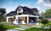Z286 - Комфортабельный дом с интересными фасадными окнами, с гаражом на два авто.