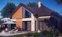 Z288 - Необычные мансардные окна, фронтальный гараж и современные фасады выделяют этот проект среди остальных.