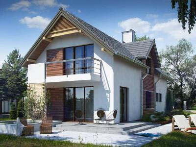 Z293 - Функциональный и привлекательный дом с гаражом для узкого участка.