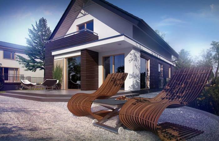Z296 - Функциональный аккуратный дом с мансардой, также для узкого участка.