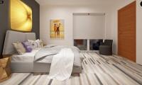 Z297 - Небольшой двухэтажный дом с современными архитектурными элементами, подходящий для узкого участка.