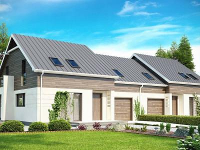 Zb3 - Простой и удобный дом для симметричной застройки с боковым гаражом.