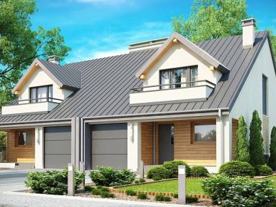 Zb4 - Проект стильного, функционального и недорогого двухсемейного дома.