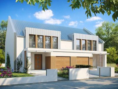 Zb5 - Дома близнецы стильного современного дизайна.