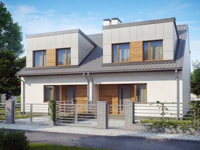 Zb7 - Компактные дома близнецы в современном стиле с уютным интерьером.