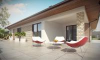 Z301 - Комфортный одноэтажный дом с большой террасой.