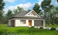 Z306 - Функциональный, уютный дом с эффектными фасадными окнами на мансарде.