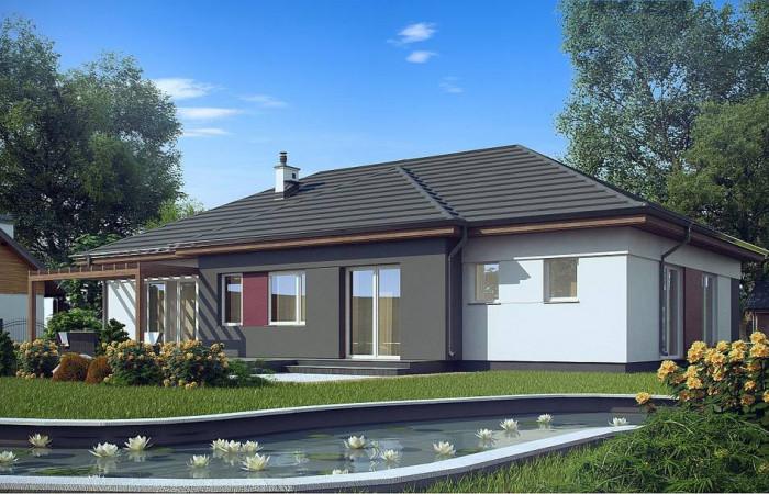 Z310 - Комфортный одноэтажный дом в традиционном стиле.